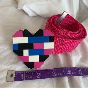 New 8-Bit Lego Heart Buckle Belt